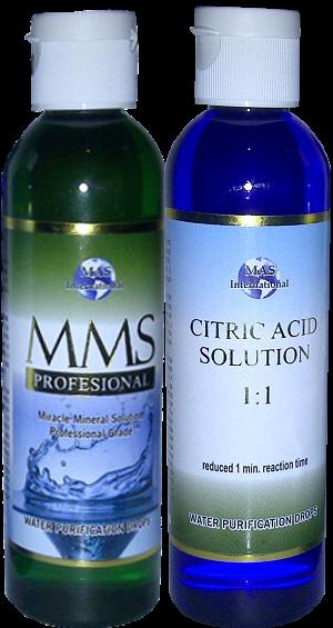 kit de MMS Acido Citrico y Solucion de MMS de 4oz
