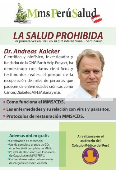 Andreas Kalcker en Perú – Seminario internacional La Salud Prohibida