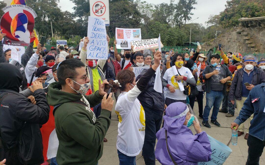 El día 28 de julio, día de nuestra independencia, se realizó en Lima, Perú, la marcha pacífica por nuestra salud a favor del Dióxido de cloro