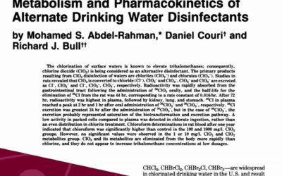 Metabolismo y Toxicocinética del Dióxido de cloro y sus subproductos