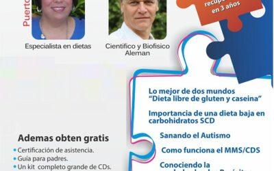 Seminario internacional Venciendo el Autismo – Glorie Acevedo desde Puerto Rico y Andreas Kalcker.