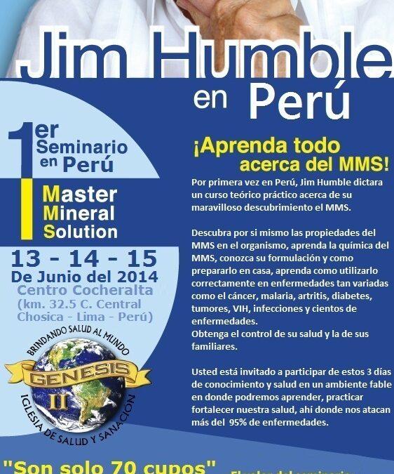 Primer seminario de MMS en Perú con Jim Humble.